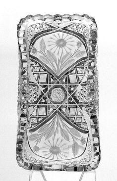 American Brilliant Cut Glass Spooner By J. Hoare & Company