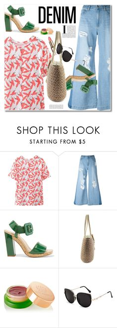"""Untitled #2857"" by svijetlana ❤ liked on Polyvore featuring Steve J & Yoni P, Roger Vivier, Tata Harper, distresseddenim and zaful"