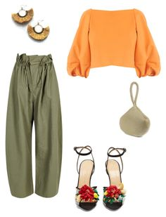 """Earthy"" by mh3914rp ❤ liked on Polyvore featuring STELLA McCARTNEY, TIBI, Charlotte Olympia, Jessica McClintock and NAKAMOL"