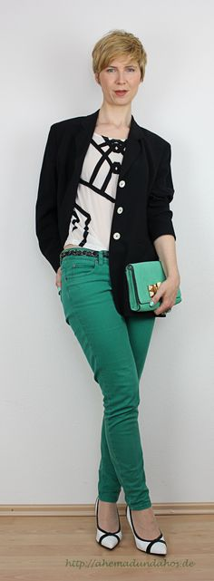 Green - black and white