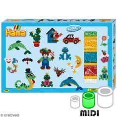 Compra nuestros productos a precios mini Kit Gigante Perlas Hama Midi - Animales - Entrega rápida, gratuita a partir de 89 € !