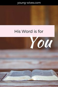 His Word is for You