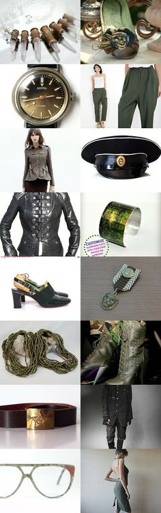 Military-style fashionista by neringaci on Etsy--Pinned with TreasuryPin.com
