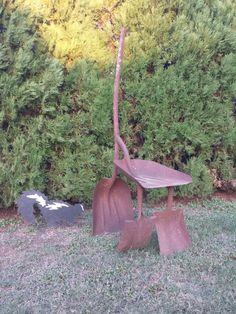 Grain shovel chair  Metal art chair