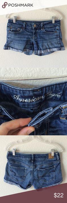 Selling this AEO jean shorts on Poshmark! My username is  jhbuccino.   shopmycloset 3c926ecc0a