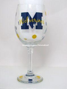 Michigan Wolverines wine glass #ultimatetailgate #fanatics