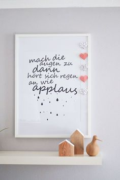 Mach die Augen zu dann hört sich Regen an wie Applaus Some Quotes, Words Quotes, Sayings, Wedding Card With Photo, Entrepreneur Motivation, True Words, Word Art, Cool Words, Wedding Cards