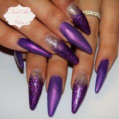 Nail art in Krasnodar 89183976004 #nailart #nails #дизайнногтей #ногти #фиолетовый #блестящиеногти #стилеты