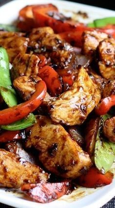 Stir-Fried Chicken with Chinese Garlic Sauce ~ Delicious & well balanced