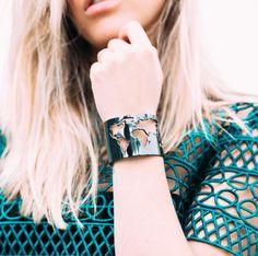 Our Silver World Cuff worn by @SomethingHippie // Cristina Ramella Jewelry