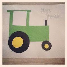 Living on a Latte: Our Farm Theme - Activities Farm Animals Preschool, Farm Animal Crafts, Farm Crafts, Preschool Crafts, Preschool Shapes, Kindergarten Crafts, Preschool Ideas, Toddler Art, Toddler Crafts