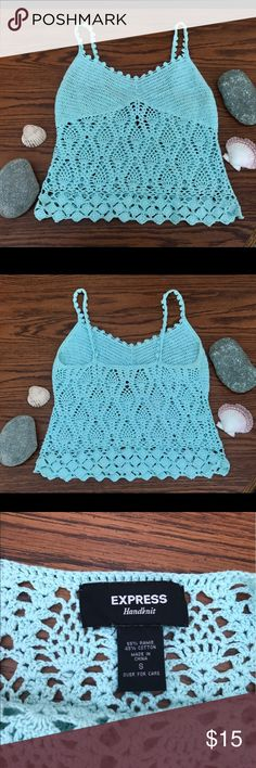 Express handknit tank top Express . Hand knit crochet . Express Tops Tank Tops