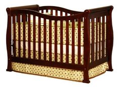 Athena Nadia 3 in 1 Crib with Toddler Rail, Cherry by Athena  http://www.babystoreshop.com/athena-nadia-3-in-1-crib-with-toddler-rail-cherry-by-athena/