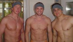 With Marcel Hossa and Branko Radivojevic. Henrik Lundqvist, Sports Pictures, Chicago Blackhawks, Hockey Players, Gentleman, Hot Guys, Eye Candy, Marcel