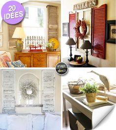 Récupérer des vieux volets pour décorer la maison! 20 idées inspirantes…