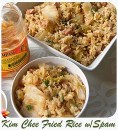Local favorite Kim Chee Fried Rice is simple and easy to make. Get more delicious local style recipes here. Entree Recipes, Rice Recipes, Asian Recipes, Cooking Recipes, Ethnic Recipes, Ono Hawaiian Food, Hawaiian Dishes, Hawaiian Recipes, Spam Fried Rice