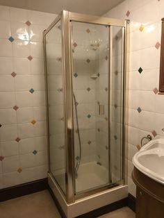 Glass Shower Enclosure With Gold Brass Trim / Surround 183 Cm High Square Shower Enclosures, Brass, Mirror, Gold, Ebay, Furniture, Home Decor, Decoration Home, Room Decor