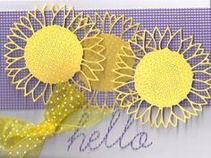 Wild Sunflower Hello Memory Box dies