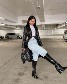 Winter Fashion Outfits, Fall Winter Outfits, Look Fashion, Womens Fashion, Fashion Clothes, Biker Fashion, Summer Outfits, Evening Outfits, Black Girl Fashion