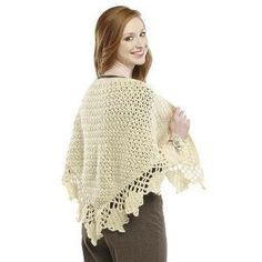 You have found The Crochet Shawl of Your Dreams with this free crochet pattern from Premier Yarns. This classic crochet shawl has a lacy pattern but feels warm and cozy like wool. You really can't go wrong with this delightfully comfortable crochet shawl pattern. The edging gets sewn on after the shawl is finished to complete the graceful and traditional look overall. At 56 inches wide, this shawl is perfect for any season and wraps around you in just the right way.