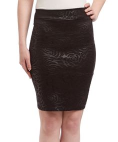 This Avital Black Rose Pencil Skirt by Avital is perfect! #zulilyfinds