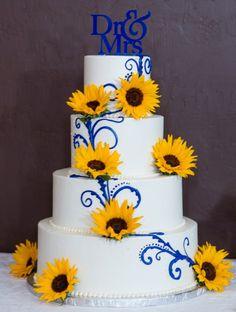 sunflower wedding cake decorations