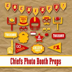 Kansas City Chiefs Football Photo Booth Props and Party Decorations