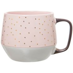 Clay Art Tapered Base Mug 21oz Stoneware Set of (€21) ❤ liked on Polyvore featuring home, kitchen & dining, drinkware, clay mugs, pink mug, clay coffee mugs, glazed mugs and stoneware coffee mugs