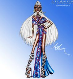 Disney Princesses Couture Collection - Kida by Aaron Rodrigo / IG: @aaronrodrigo_