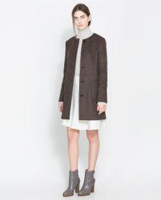 Image 1 of CREWNECK COAT from Zara