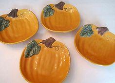 william sonoma Pumpkin Plates