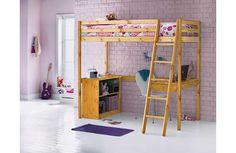 Buy Argos Home Kaycie Pine High Sleeper Single Bed Frame Bed Frame With Storage, Bed Storage, Single Wooden Bed Frames, High Sleeper Bed, Home Bedroom Design, Bedroom Ideas, Pine Beds, Big Girl Bedrooms, Childrens Beds