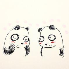 【一日一大熊猫】2016.11.6 今日はお見合い記念日。 #パンダ #お見合い