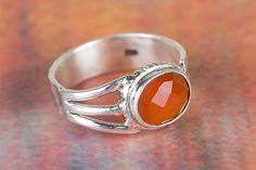 Carnelian Birthstone Ring Carnelian Boho Ring Carnelian