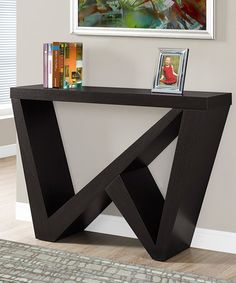 Look what I found on #zulily! Cappuccino Geometric Console Table #zulilyfinds