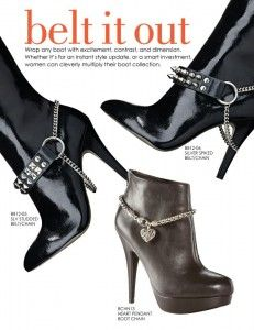 boot jewelry - yes please! Boot Bling, Bling Shoes, Boot Bracelet, Ankle Bracelets, High Heel Boots, Shoe Boots, Shoes Heels, Recycled Shoes, Steampunk Boots