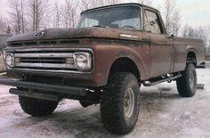 Classic Ford Trucks, Old Ford Trucks, Old Pickup Trucks, Ford 4x4, 4x4 Trucks, Custom Trucks, Black Truck, Small Trucks, Dodge Power Wagon