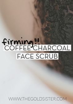 Easy DIY coffee and charcoal face scrub that cleans, exfoliates, and firms your skin. Click through to read how to make it! >> #ExfoliatingBodyScrub Coffee Cellulite Scrub, Coffee Face Scrub, Diy Face Scrub, Face Scrub Homemade, Homemade Facials, Diy Scrub, Charcoal Face Scrub, Charcoal Mask, Exfoliant
