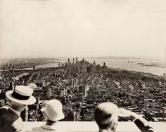 Empire State Building opening day, 1931, by Samuel H. Gottscho