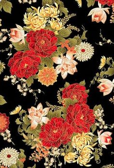 Japanese Textiles, Japanese Patterns, Japanese Prints, Japanese Fabric, Japanese Design, Japanese Art, Fabric Wallpaper, Pattern Wallpaper, Flower Patterns