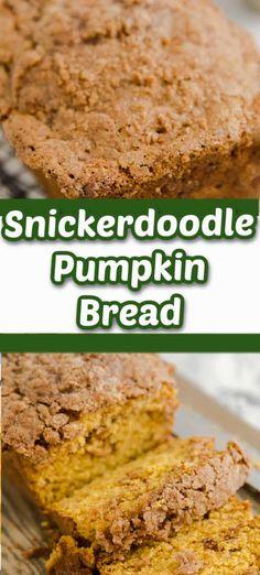 Bread Dough Recipe, Best Bread Recipe, Quick Bread Recipes, Banana Bread Recipes, Muffin Recipes, Pumpkin Recipes, Brunch Recipes, Fall Recipes, Baking Recipes