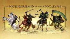 Fantasy Monster, Monster Art, Four Horsemen Of The Apocalypse Tattoo, Grim Reaper Art, Monster Pictures, Four Horses, Apocalypse Art, Ange Demon, Horror Monsters