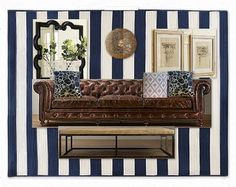 Love the navy and the sofa.  The Shabby Nest