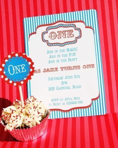 Carnival Party: Invitation (cute wording)