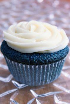 Blue velvet cupcakes.