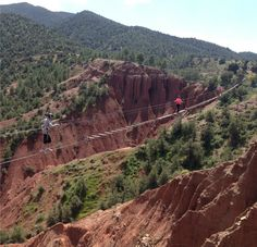 Ziplining in the Atlas Mountains - Terres d'Amanar is in Tahnaout (45 min. from Marrakech)