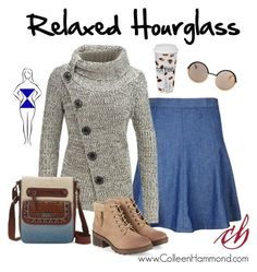 Image result for winter capsule wardrobe hourglass