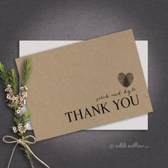 Thank You Card Instant Download Customised by WhiteWillowPaper