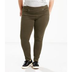 5fd1f11bf2672 Levi s Perfectly Slimming Pull-On Leggings ( 40) ❤ liked on Polyvore  featuring pants
