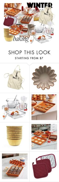 """""""Bake Winter"""" by jrpsketch on Polyvore featuring interior, interiors, interior design, home, home decor, interior decorating, Anchor Hocking, Improvements and 7X7"""